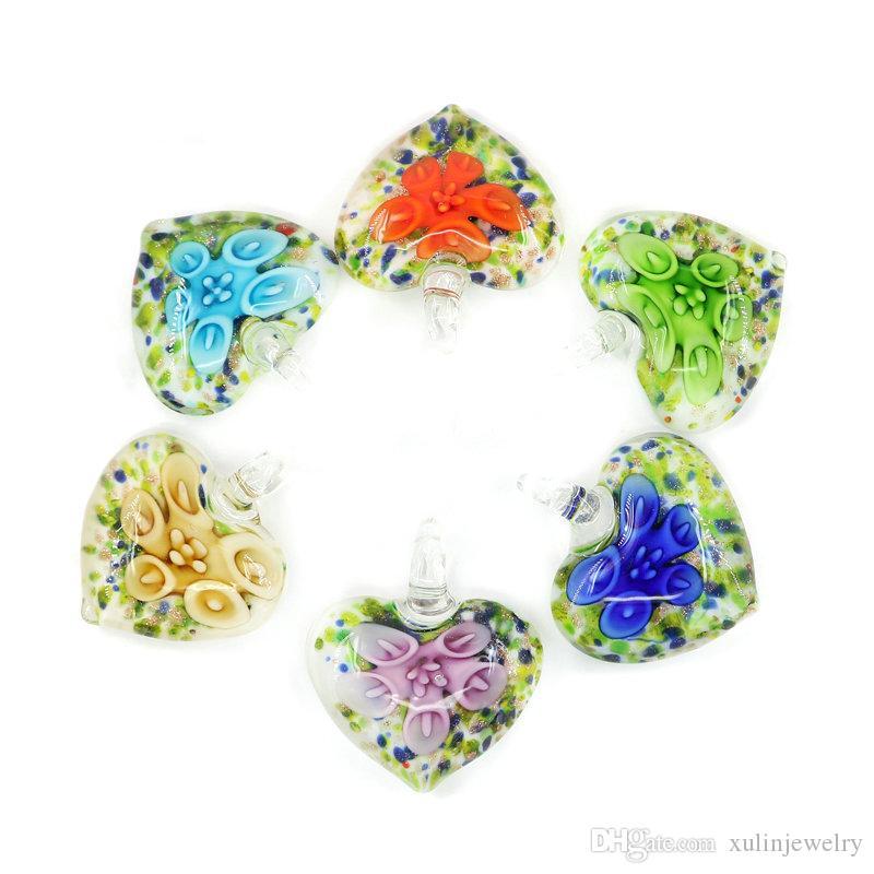 stock de pendentifs en verre lampano en vrac pendentif en verre en vrac pas cher en gros 12 pcs / ensemble pour la fabrication de bijoux bricolage MC0052