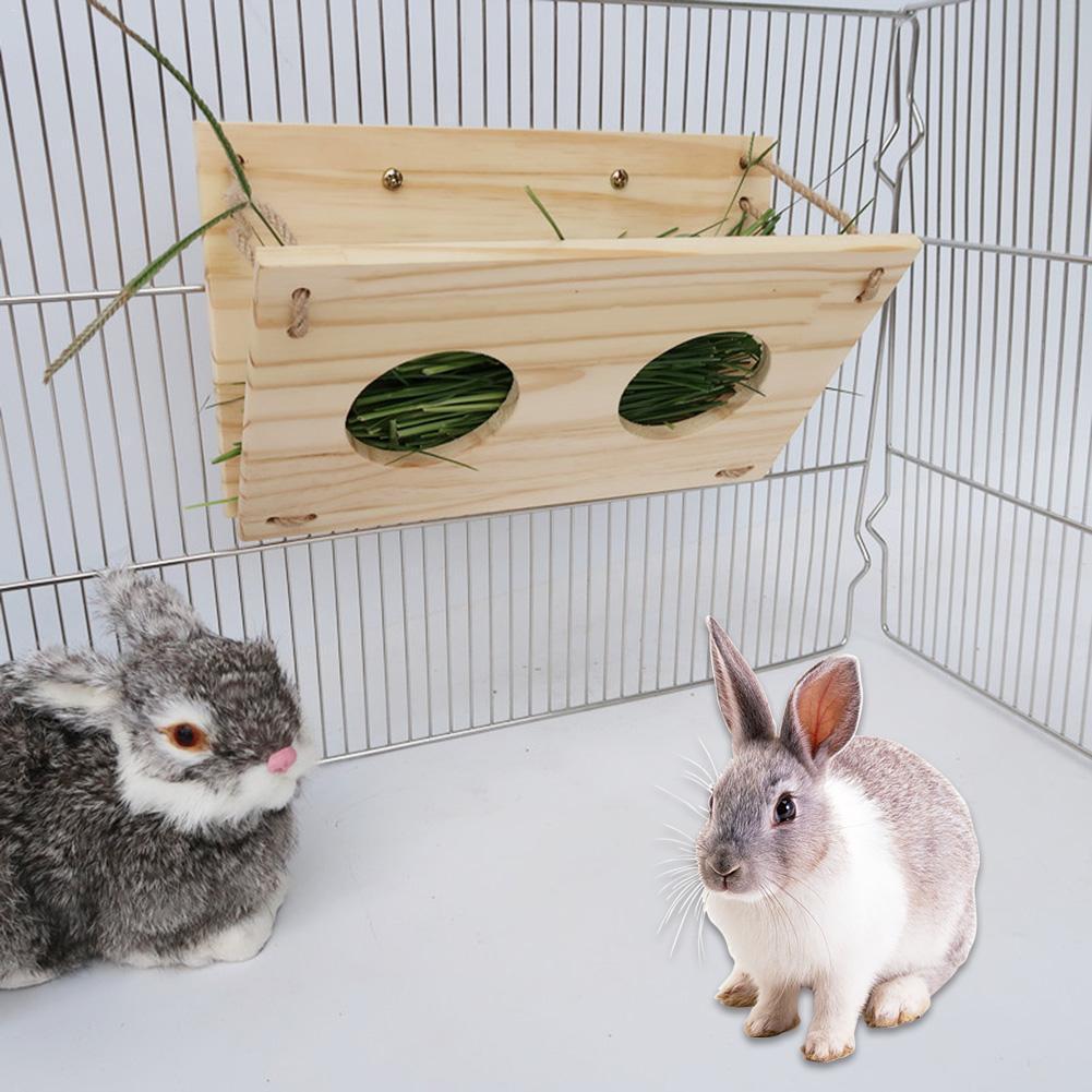 Bola de Hierba Conejo 2 en 1 Colgante Alimentador de heno de Conejo Interesante alimento para la alimentaci/ón del Pesebre para Conejillo de Indias Chinchillas Chapado en Acero Inoxidable