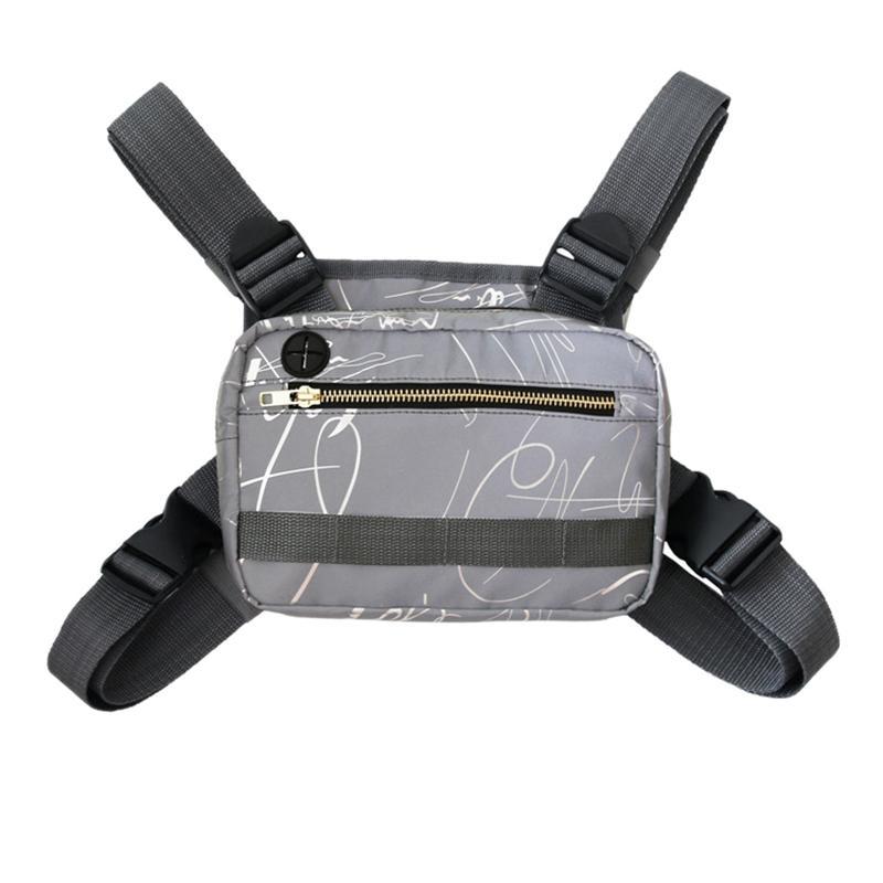 600D Oxford Bezi Av Yelek Çantalar Çok Fonksiyonlu Ayarlanabilir Göğüs Rig Çanta Spor Çanta