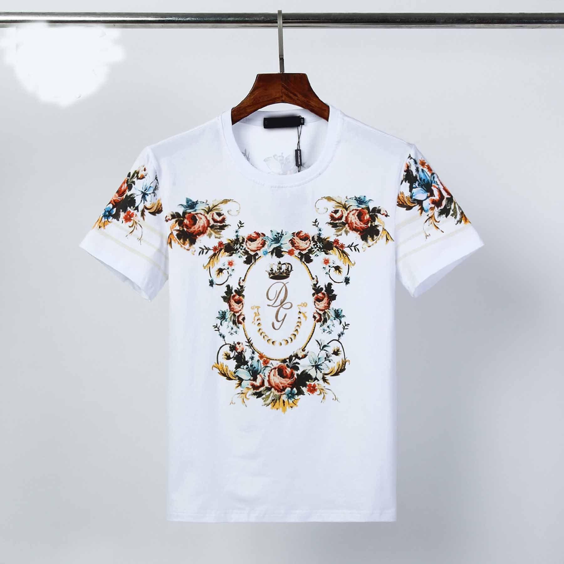 2020 camiseta de explosión de los nuevos hombres de moda de los hombres de manga corta de la medusa de alta calidad del algodón de la camiseta 2 del color tamaño M-3XL