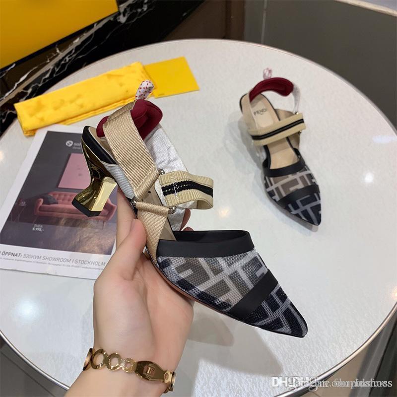 Americano modo della signora alto 5cm tacco abito sandali del partito sandali da sposa sexy danza ragazza punta europea e di qualità Slipper