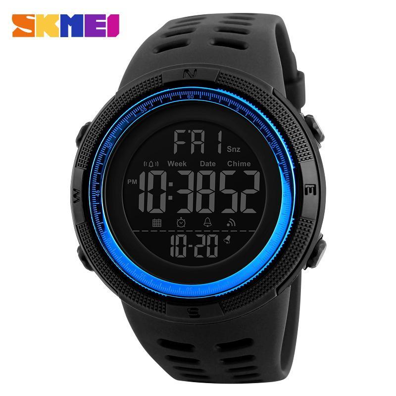 SKMEI Relogio masculino Relojes para hombre de lujo deporte del ejército al aire libre 50 m impermeable reloj digital militar casual hombres relojes de pulsera 1251