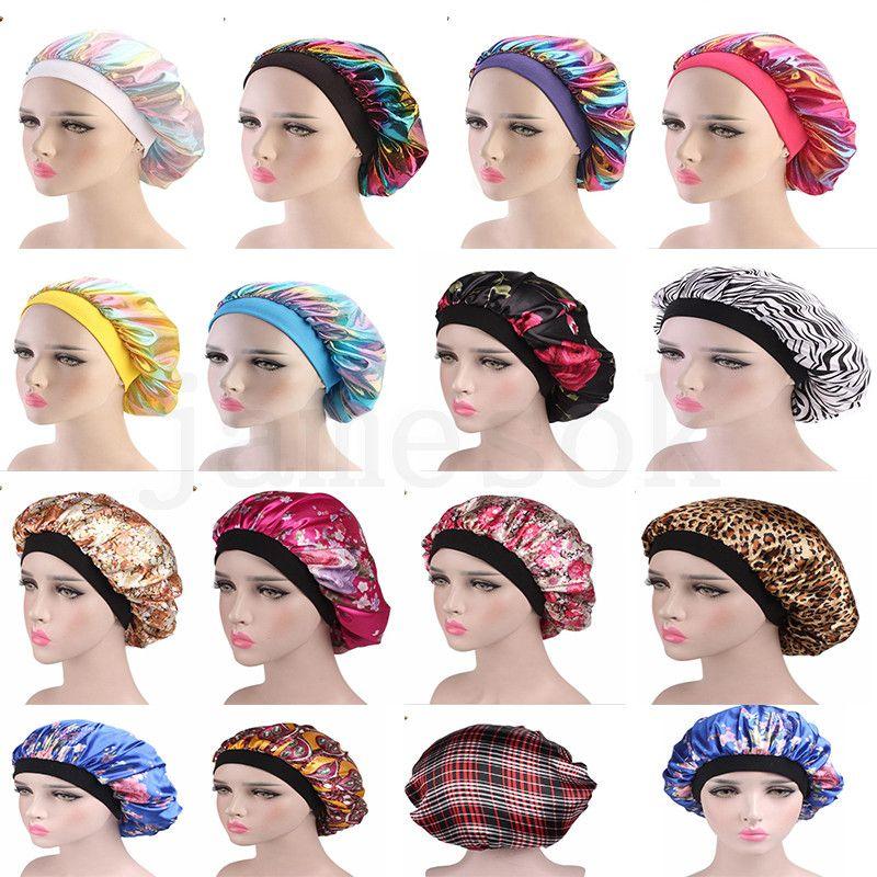 الليزر القبعات مطاطا واسعة الجانبية النوم العمامة قبعة حريري دش كاب العناية بالشعر بيرم كاب لامرأة رئيس التفاف إكسسوارات الشعر DA205
