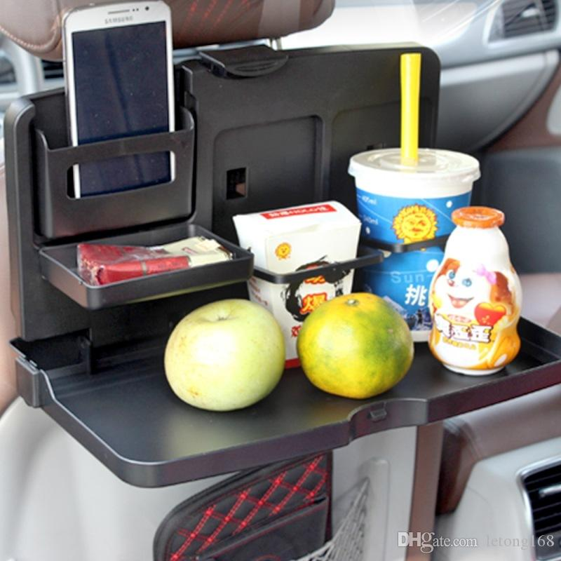 Coche plegable de múltiples funciones bandeja Silla de mesa taza de la bebida de Alimentos titular de viajes comedor bandeja Organzier