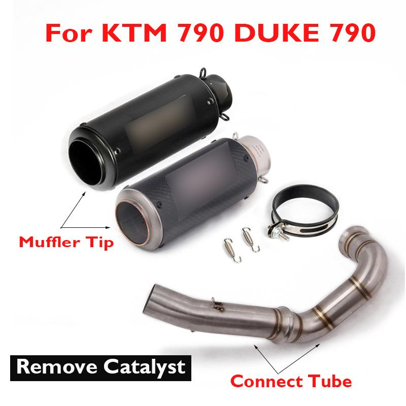 DUKE 790 Motorcycle Exhaust System Connect Tube Middle Mid Link Pipe Muffler Tip for 790 DUKE