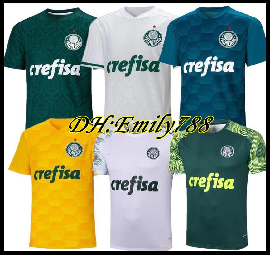 20 21 Palmeiras SOCCER JERSEY HOME GREEN DUDO G.JESUS BORJA DEYVERSON 2020 2021 Palmeiras Away FELIPE L.ADRIANO B.HENRIQUE football SHIRTS