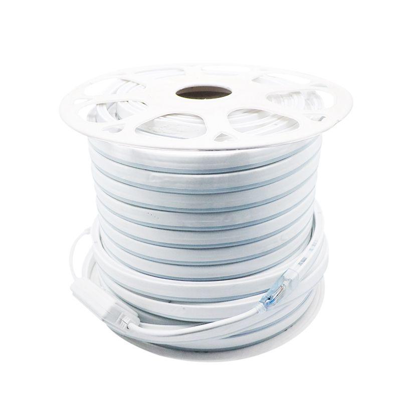 Umlight1688 AC 110 220 V Flexível RGB LED Neon Faixa de Luz IP65 Multi Cor Mudando 80 LED 5050 LED Rope Luz Ao Ar Livre Rgb remoto