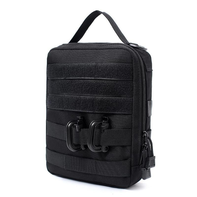 Táctica de Molle cinturón bolsa bolsa para accesorios Mochila impermeable paquete de la cintura Deportes de teléfono celular de la caja de la cremallera Bolsas Caza Bolsas