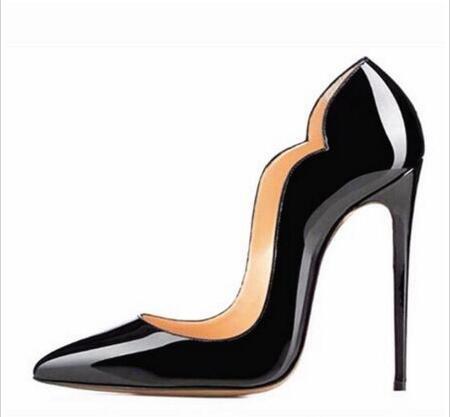 Avec boîte 2020 femmes mode de créateurs de luxe chaussures à talons hauts 8cm 10cm 12cm Nu cuir orteils pointés Pumps fond chaussures Robe Livraison gratuite