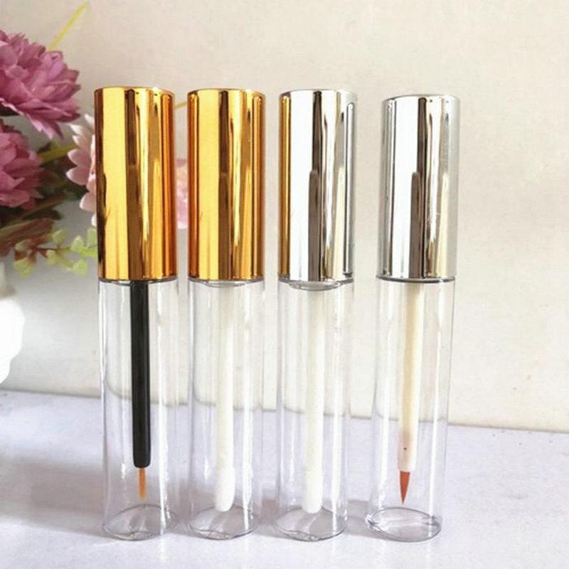 Оптовая продажа горячая 10 мл мини круглый блеск для губ трубка косметический пакет блеск для губ бутылка пустой контейнер с золотой крышкой новый