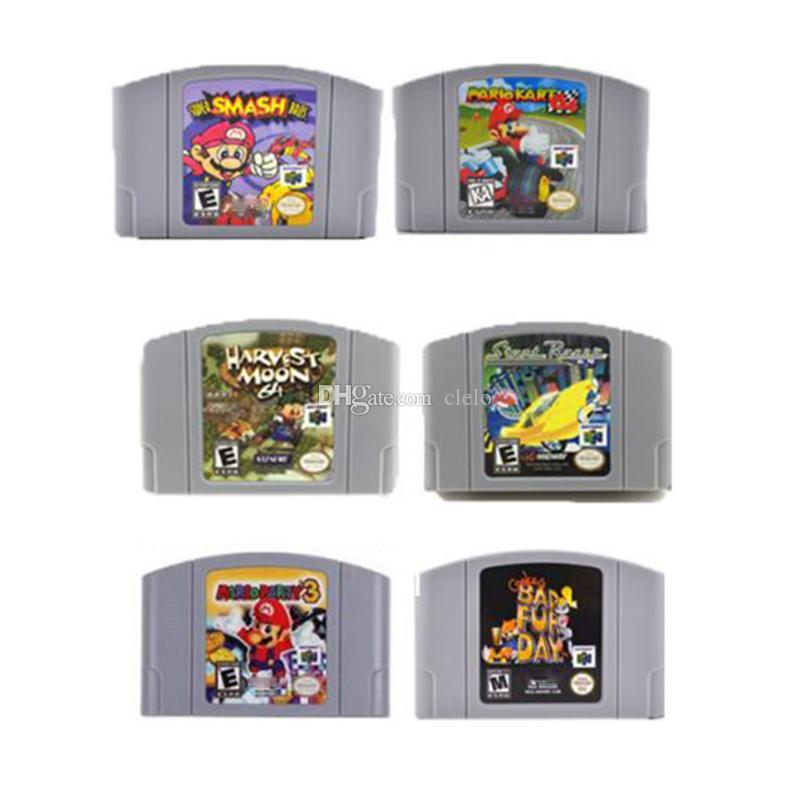 뜨거운 비디오 게임 카트리지 N64 콘솔,스턴트 레이스,Mario Kart64,도시,존거 r 의 나쁜 모피의 날