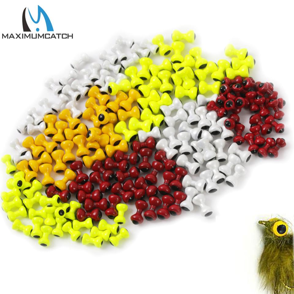Sports & Entertainment Maximumcatch 25pcs/lot Painted Lead Eyes Fly Tying Beads Yellow/Orange/Red/White Dumbbell Rounded BeadsTwin Eyes