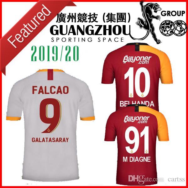 9 camisetas de futebol FALCAO 6 Seri 19 20 Casas de terceiros afastado TURQUIA 2019 M DIAGNE BABEL Nzonzi Belhanda LUYINDAMA Mitroglou camisas de futebol de formação