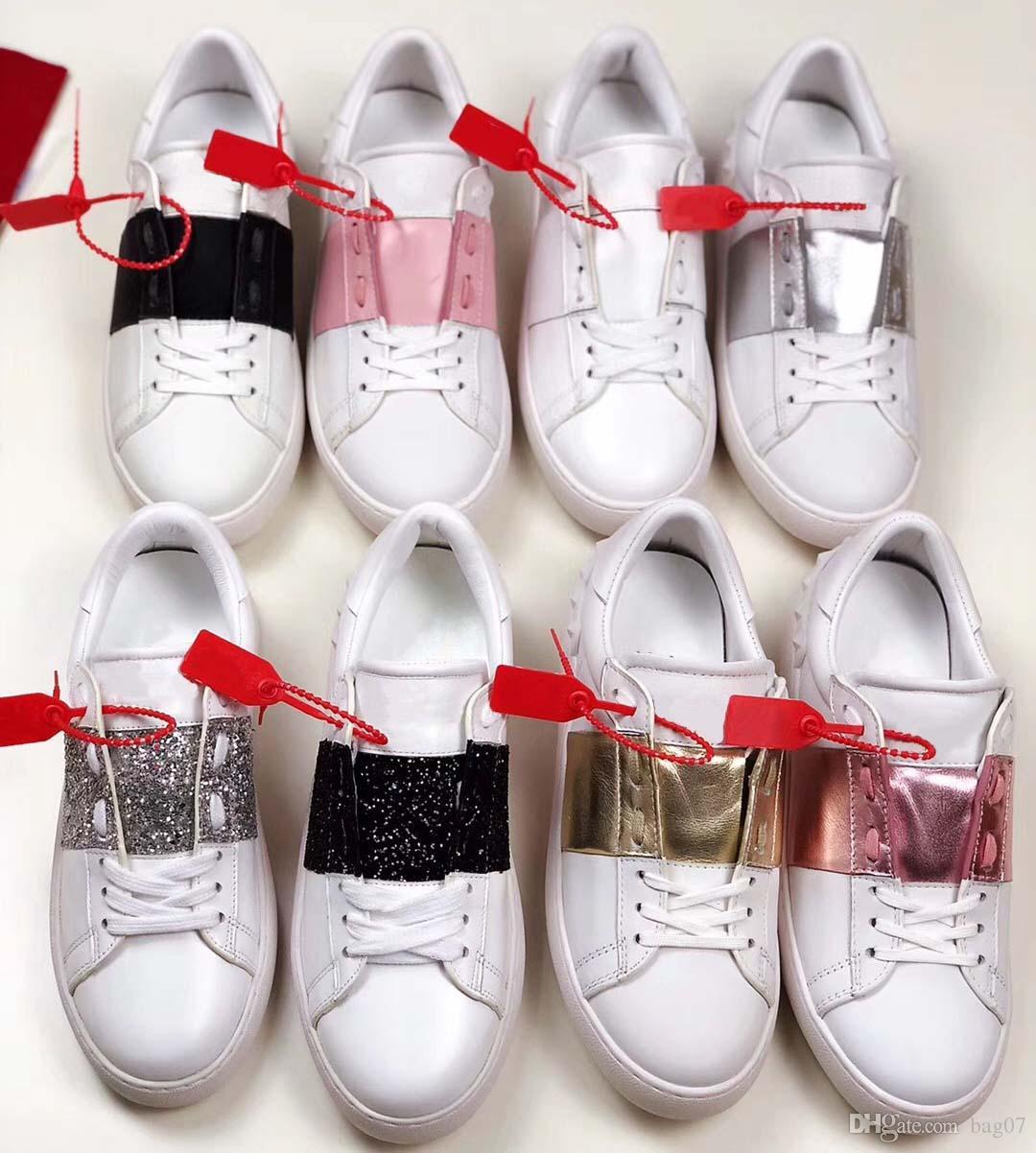 Avec la boîte espadrille chaussures Casual Formateurs chaussures de sport mode Chaussures Baskets meilleure qualité pour homme femme libre DHL Par bag07 HL2102