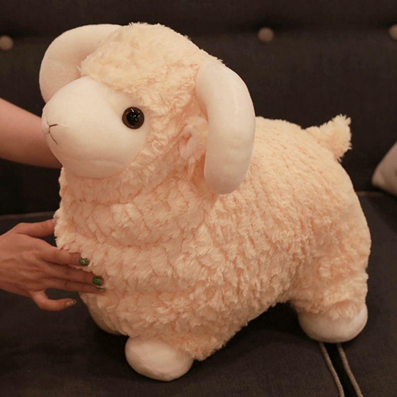 Schafpuppe Große weiche Niedliche Tier Alpaka Plüsch Spielzeug Gras Schlamm Pferd Puppe Geburtstagsgeschenk Mädchen Kissen 40 cm 16 Zoll DY50722
