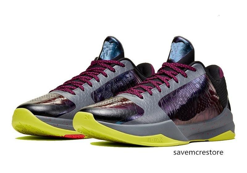 Black Mamba 5 bruce lee chaussures à vendre avec les femmes Box nouveaux hommes chaussures de basket-ball stocker US7-US12