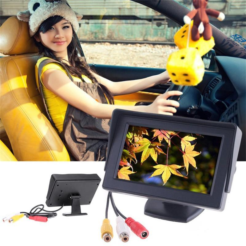 4.3inch Car-styling TFT LCD carro monitor reverso retrovisor Color Camera DVD VCR CCTV Auto Estacionamento Assistência Camera Reversa backup
