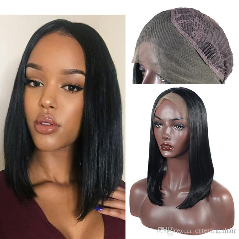 Long Bob Glueless Lace Front Wigs Heat Resistant Fiber 180% Density Natural  Black Synthetic Lace Wig For Black Women Bob Wig Lace Front Curly Lace