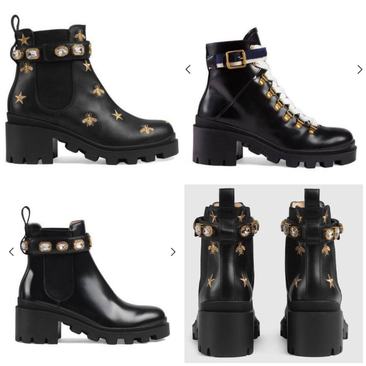 Sapatos de Couro da mulher direto da fábrica feminino salto duro cabeça redonda Lace up Fita fivela de cinto ankle boots outono inverno Martin BootsSIZE35-42