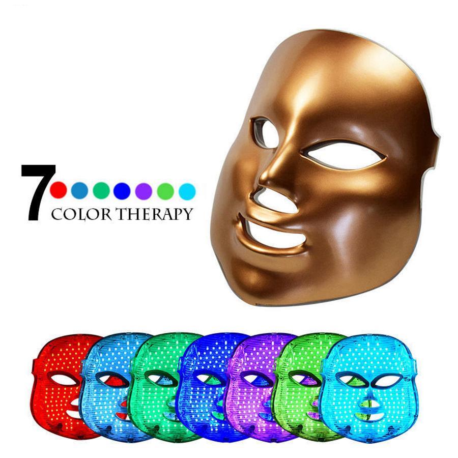 7 Colore Luce Photon PDT LED elettrico Massaggio Viso mascherina facciale Cura della pelle ringiovanimento terapia anti-invecchiamento della pelle promuovere le cellule RRA2104