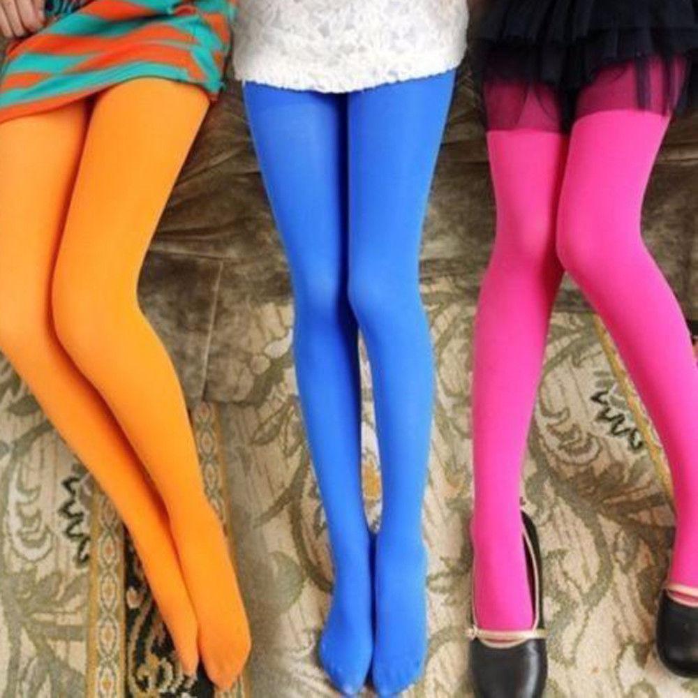 Heißer Verkaufs-Grund Style Fashion-Kind-Hosen Stretch Ballett-Jungen-Mädchen-Schenkel-Strumpfhosen Strümpfe Plain Farbe Kinder Thin Strumpfhosen