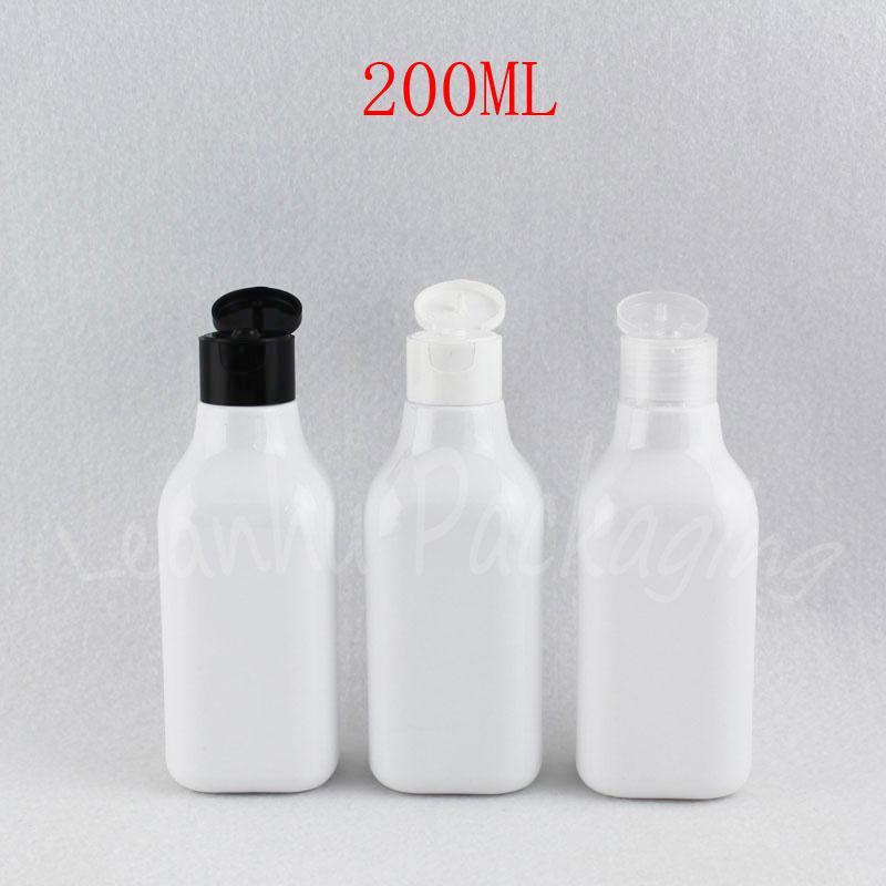 Botella 200 ml de la casilla blanca de plástico, 200CC maquillaje Sub-embotellado, champú / loción / Gel de Ducha botella de empaquetado (30 PC / porción)