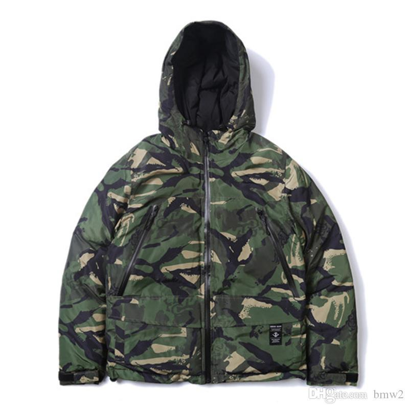 Winter Jacke Herren Camouflage Thick Parka Men Winter Coat Hip Hop Thin Hooded Jackets Parkas Warm Streetwear Sale Jackets Jackets And Coats Mens From