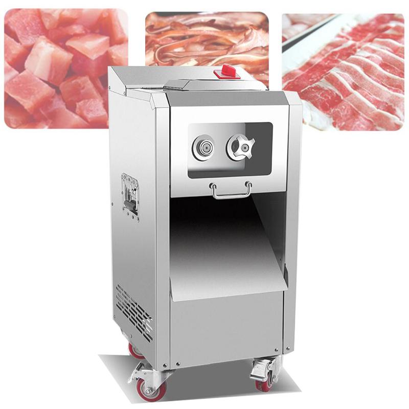 New 400kg/h Automatic Electric Meat Vegetable Cutting Slicing Machine Commercial Meat Block Slicer Cutter Price
