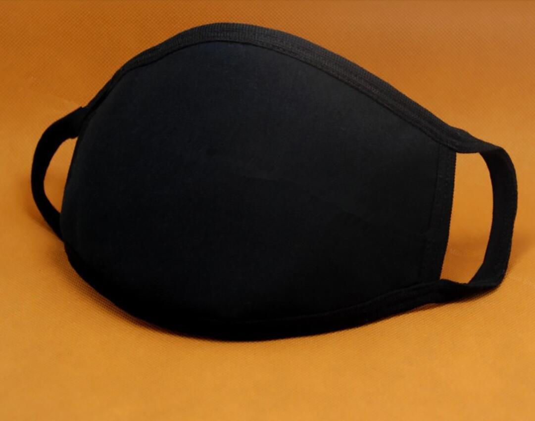 100% coton Masque unisexe bouche réglable anti-poussière Masque Masque Noir Coton bouche moufles pour le cyclisme Camping FY9043