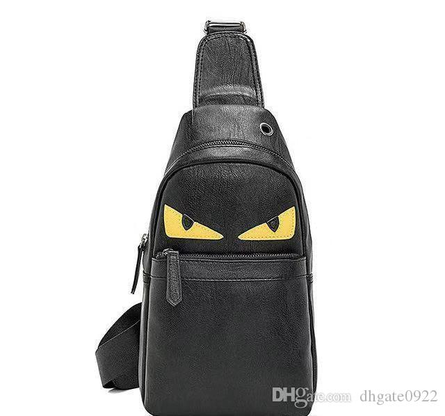 2019 Nouveau design PU Sac en cuir poitrine petit monstre sac Sling Porte-cadeaux de grande capacité Sacs à main Crossbody