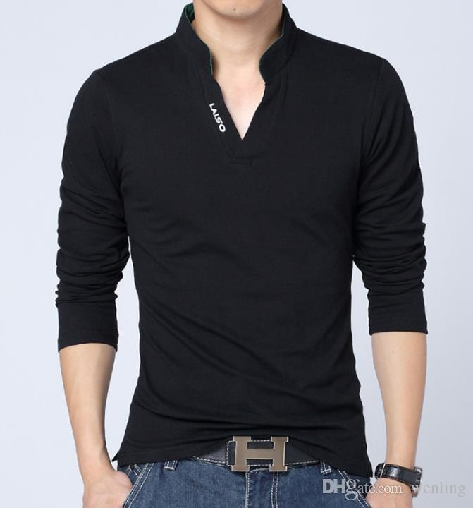 Neue Männer Herbst Leinen-T-Shirts Männer Langarm-chinesische Art Spitzen Hemden Fest Farbe Weiß Leinenbaumwollder T-Shirts