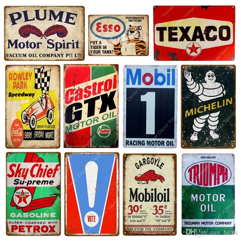 "/""Castrol GTX Motor Oil/"" Retro Tin sign Metal plaque garage petrol gas wall decor"