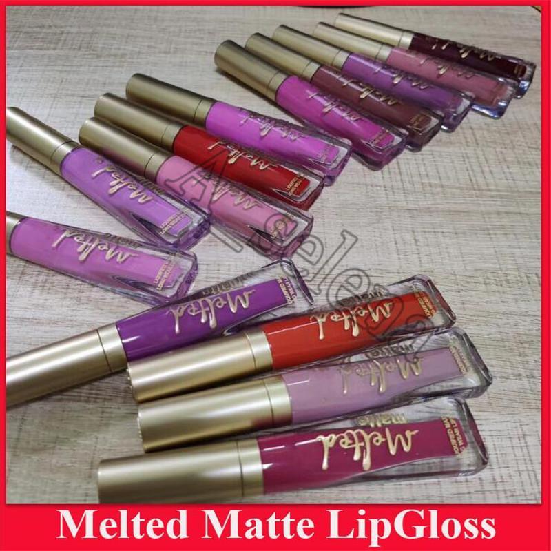 Hot Melted Matte Liquid Lipstick Faced Lip Gloss Matte Lipstick Faced Makeup Melted Lip Gloss Long Wear 14 color
