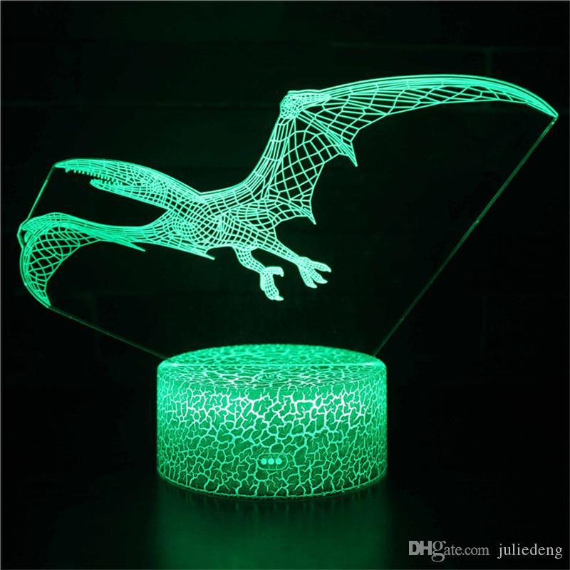 Dinosaur 3D Night Light Lamp T-Rex LED Lamps Children Nightlight Kids' Room Home Décor Xmas Birthday Toys Gifts