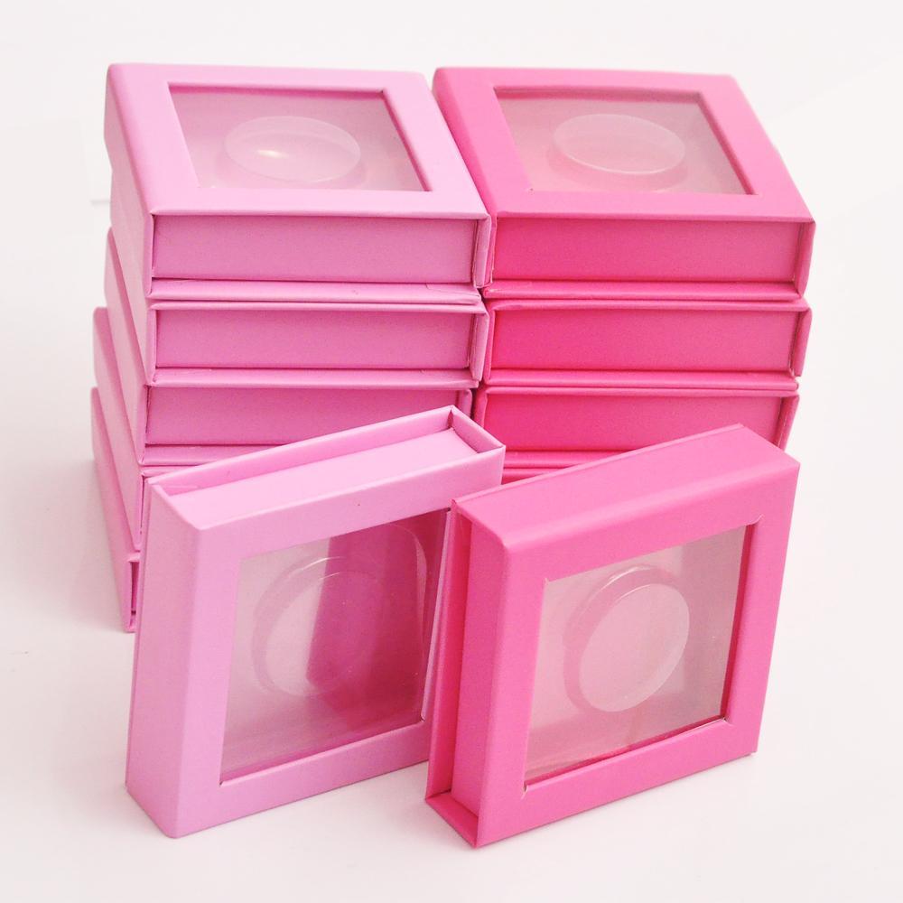 20pcs boîte carrée d'emballage faux cils particulier personnalisé faux vison 3D boîte d'extension des cils Cils faux étui vide