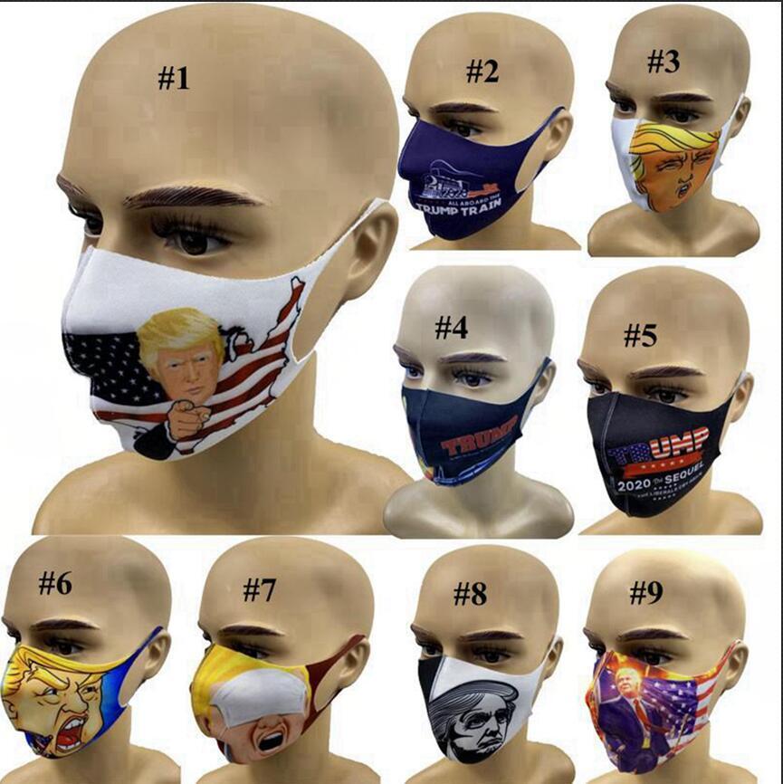 트럼프 2020 페이스 마스크 미국 선거 안티 먼지 방풍 3D 인쇄 야외 세척 디자이너 마스크 LJJA4030