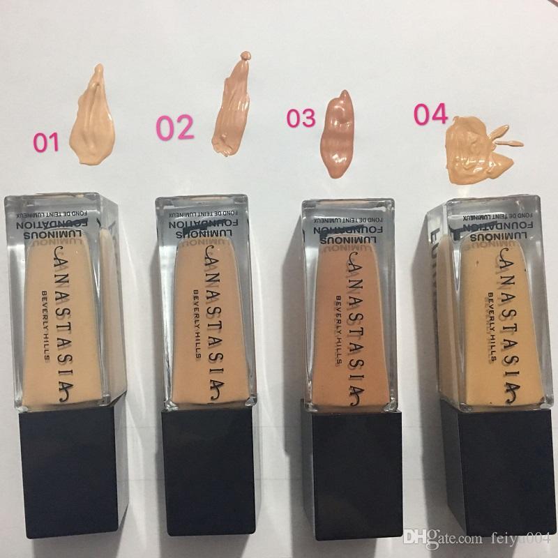 2020 انخفاض الشحن العلامة التجارية maquiagem 4color ماكياج الأساس تمييز المخفي المتوسطة تغطية الأساس السائل في الأوراق المالية الشحن المجاني