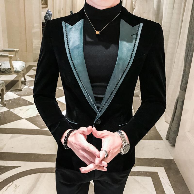 Vestito allentato Coat MX191119 Blazer Masculino Slim Fit uomo auto-coltivazione tempo libero marea Blazer Hombre Business Affairs Suit Piccolo dell'uomo