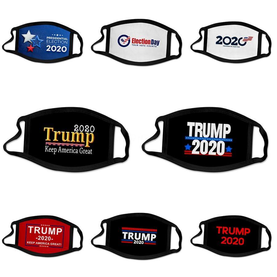 2020 Livraison rapide Designer Masques Trump Masque pliant Valved poussière PM2,5 Formaldéhyde Visage Bouche Masque Safe respirant # 839