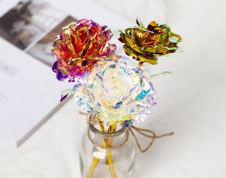 Yeni Düğün Noel Günü Hediye 24k Altın Folyo Kaplama Gül Yaratıcı Hediyeler Sevgililer e'nin Günü kız hediyesi için Sonsuza Rose Sürer