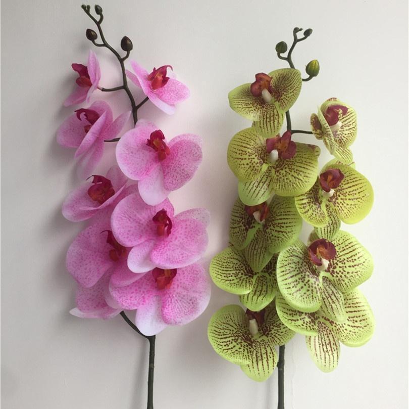 eine REAL TOUCH Orchideen-Blume Artificial Simulierte gute Qualität Schmetterlingsorchidee Latex Phalaenopsis für Hochzeit Blumen