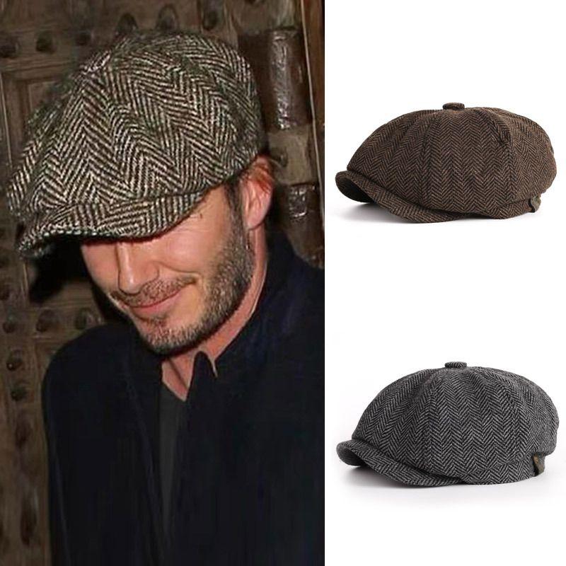 Erkekler Uluslararası Superstar Erkek Modelleri için Voron Moda Sekizgen Cap Newsboy Bereliler Şapka Sonbahar Ve Kış Şapka