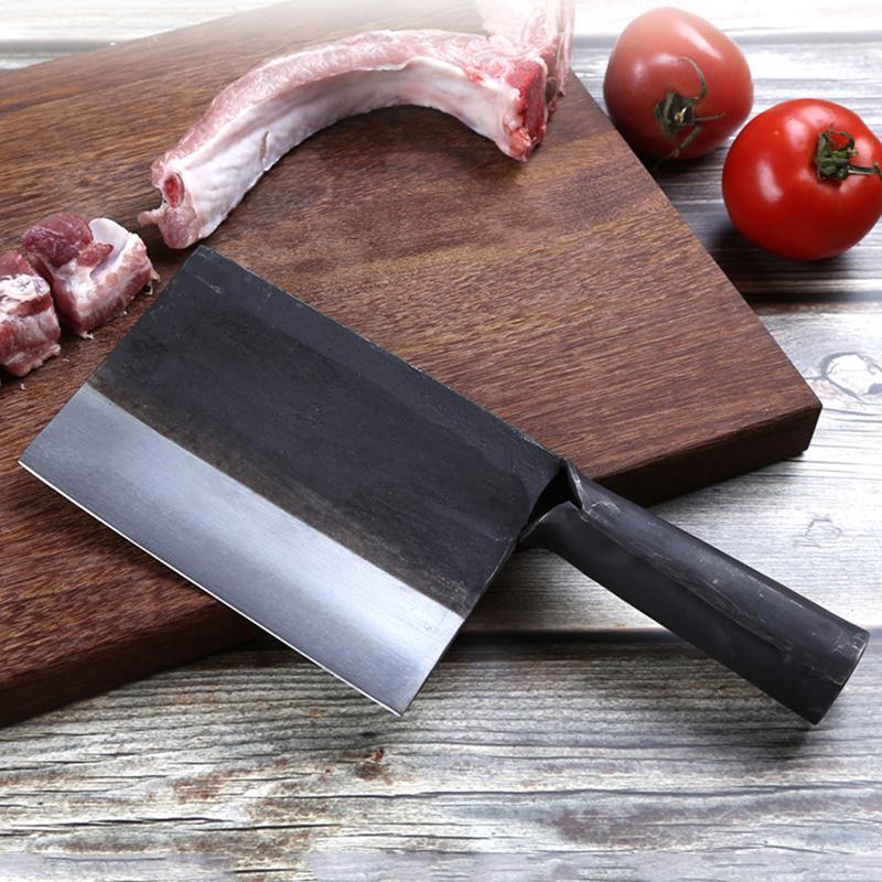 YKC calientes 6 pulgadas forjado hecho a mano Santoku de acero al carbono forjado cuchillo de carnicero chino cuchillos de cocina