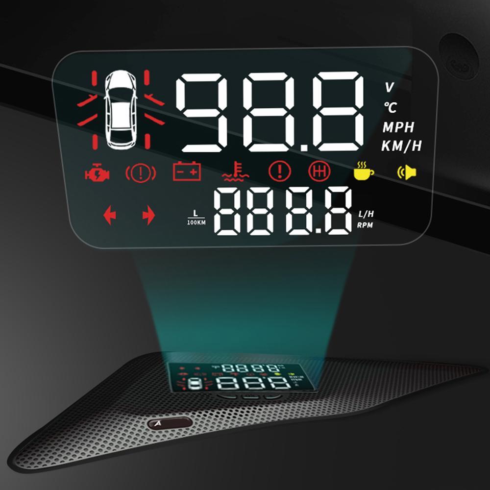 HUD voiture Head Up Display Pare-brise Vitesse Projecteur de sécurité Alarme survitesse RPM Tension pour Mazda 6 Atenza GJ1 GL 2013-2020