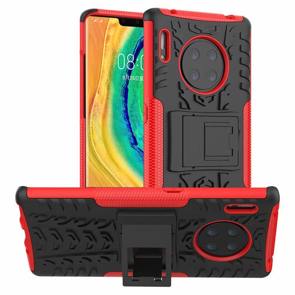 Двойной шаблон слоя шин противоударный Доспех чехол для Huawei P30 P20 Pro Mate 30 20 Pro Kickstand Обложка для Honor V30 Pro Nova 6 5 SE