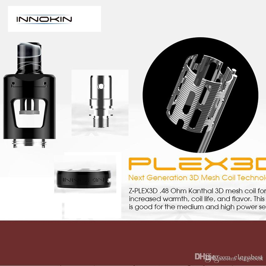 Innokin Z-Plex 3D Mesh Coil 0.48ohm Replacement coils Fit For Innokin Zlide Sub Ohm Tank 5pcs/pack 100% Original