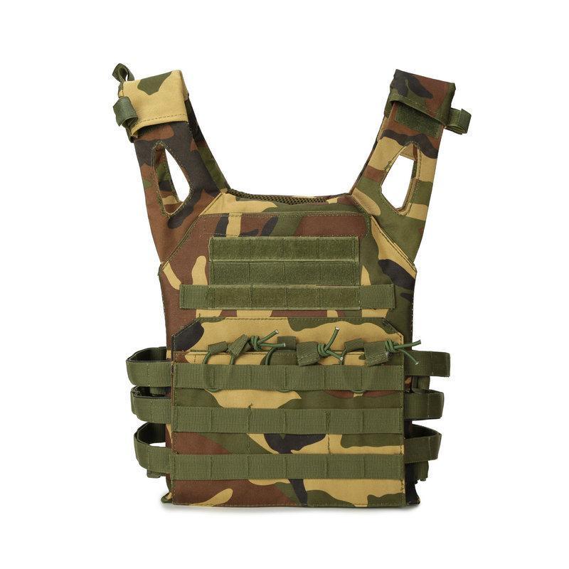 MOLLE Chaleco táctico Al aire libre Camuflaje Multifunción Ejército Fuerzas especiales Equipos Combate Chaleco CS Ropa protectora