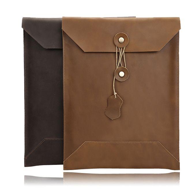2019 جلد طبيعي جديد حقيبة حقيبة للماك دعم الكتاب حقيبة تخزين دفتر مخصص لأني الوسادة