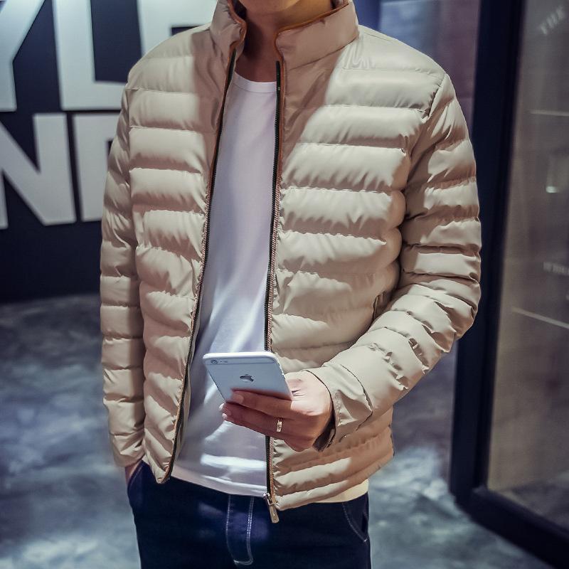 Pop2019 Kısa Fon Aşağı Ceketler Adam Ince Kalınlaşma Sıcak Ceket Tutmak Gevşek Ceket Gençlik Kod Olacaktır Pamuk-yastıklı Giysiler erkek Giyim H02