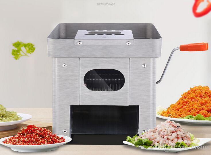 acero inoxidable máquina rebanadora eléctrica interruptor de la carne comercial máquina automática completa de corte verduras carne picada